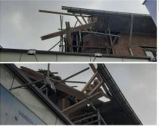 ابلاغ اخطاریه بند 14 و رفع خطر بخشی از سقف در حال ریزش توسط مالک در خیابان سعدی