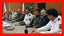 دیدار فرمانده یگان ویژه استان گیلان با آتش نشانان به مناسبت گرامیداشت 7 مهر روز ایمنی و آتش نشانی/ آتش نشانی رشت
